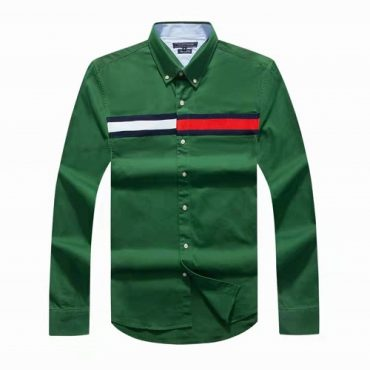 Tommy green flag shirt