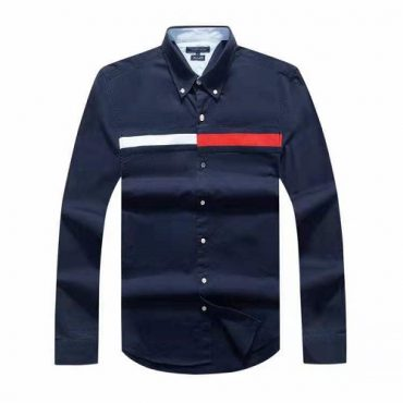 Tommy navy flag shirt